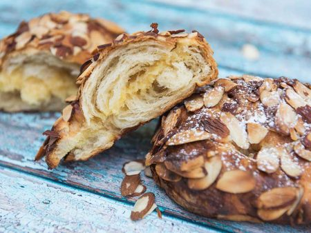 Twice-baked almond croissant